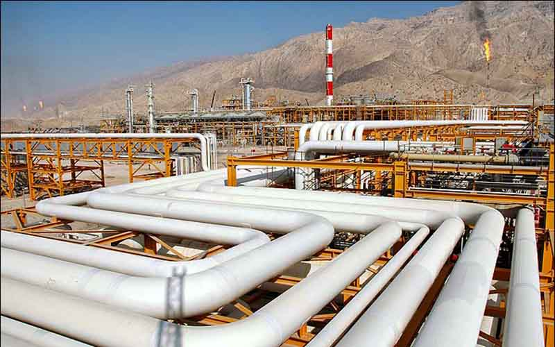 میزان فرآورش گاز در پالایشگاه نهم مجتمع گاز پارس جنوبی