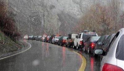 بارش باران در محورهای ۷ استان