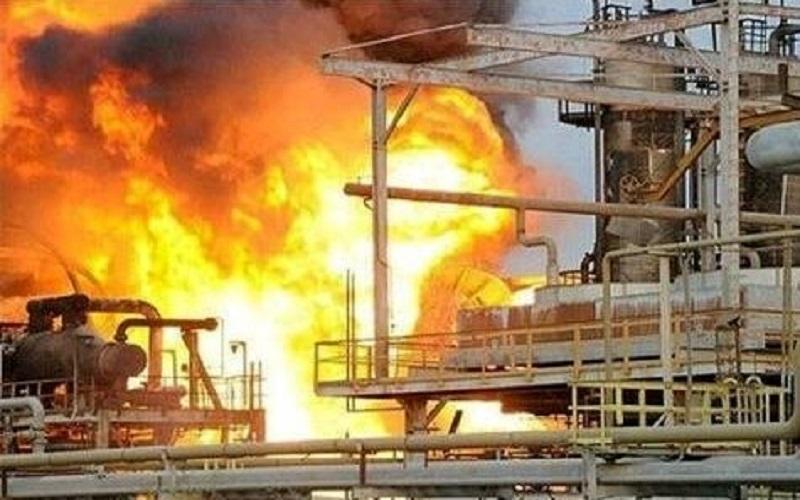 پتروشیمی آبادان دچار آتشسوزی شد