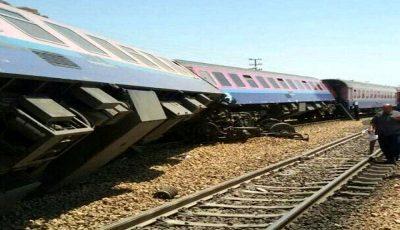 حادثه واژگونی قطار باری ایران به ترکیه در منطقه قطور
