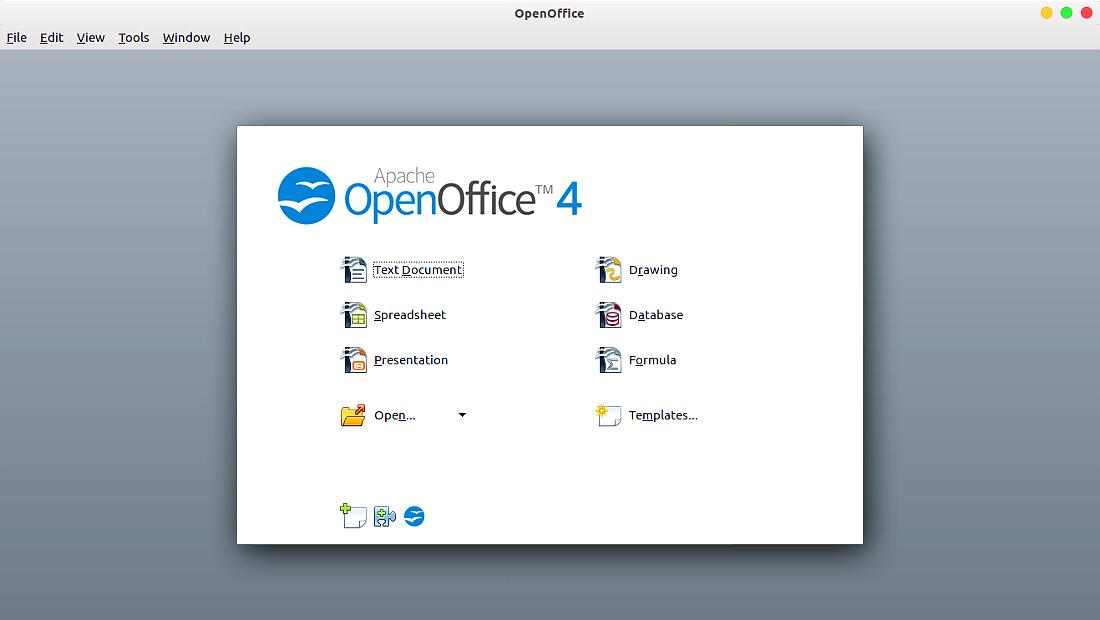 نرمافزارهای اوبونتو آپاچی اوپنآفیس Apache OpenOffice