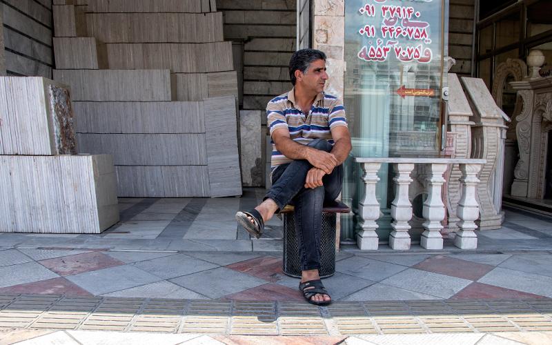 در انتظار مشتری؛بازار سنگ تهران به روایت تصویر