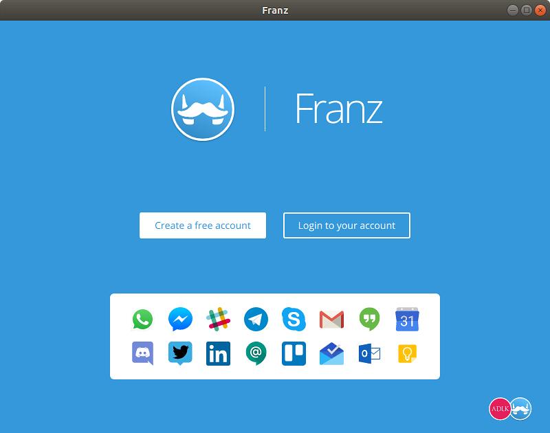 فرانز Franz نرمافزارهای اوبونتو