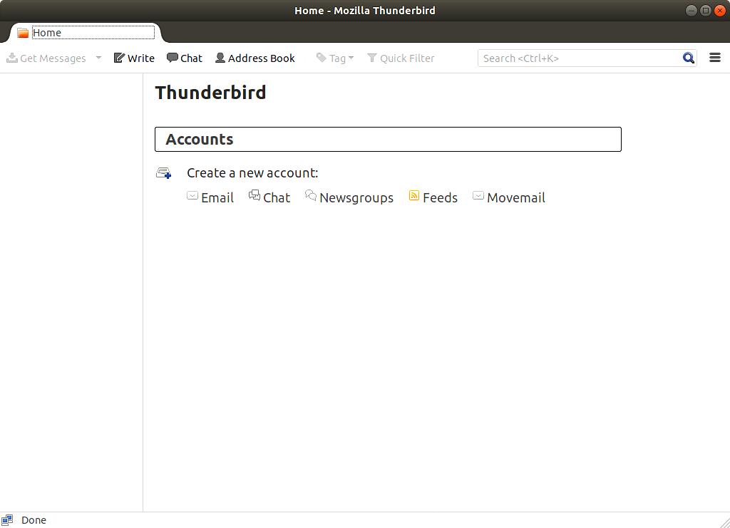 نرمافزارهای اوبونتو تاندربرد موزیلا