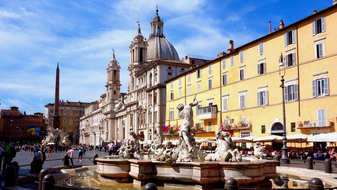 شهرهای زیبا میدان پیازا شهر رم