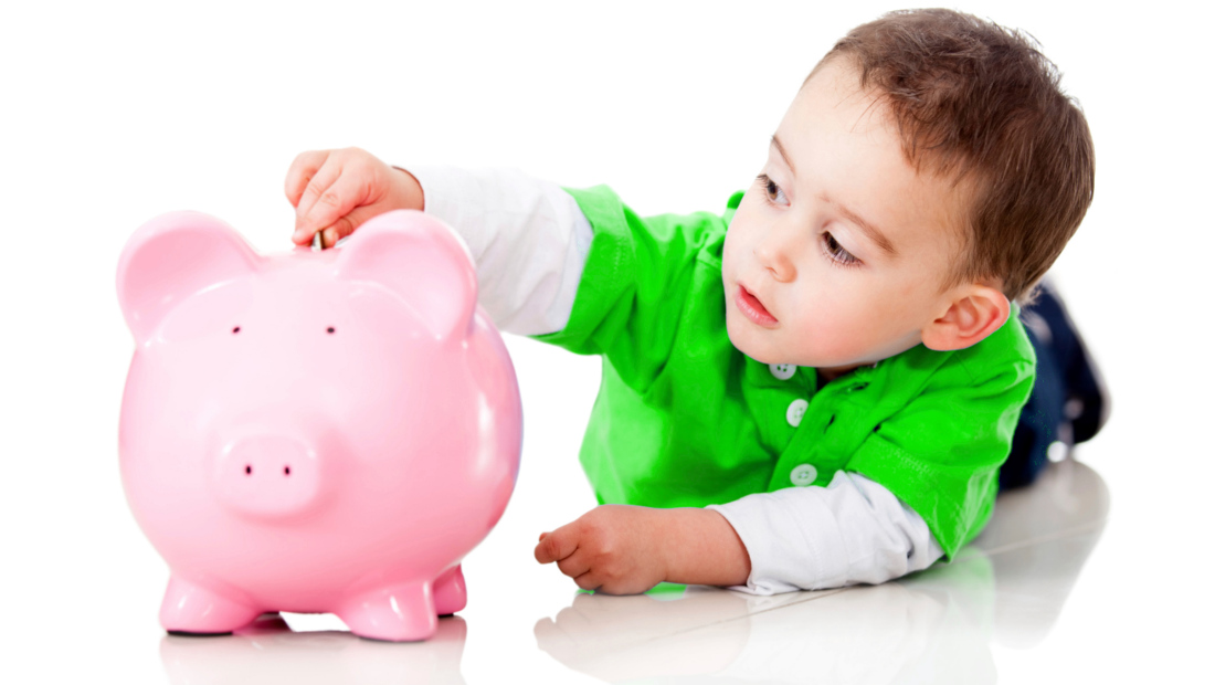 استقلال مالی فرزند کودک سکه قلک