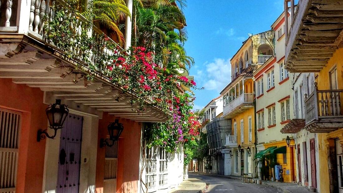 شهرهای زیبا کوچههای شهر کارتاگنا در کلمبیا