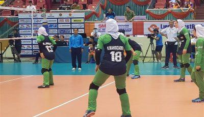 صعود تیم والیبال دختران ایران به مرحله یک هشتم نهایی والیبال قهرمانی آسیا