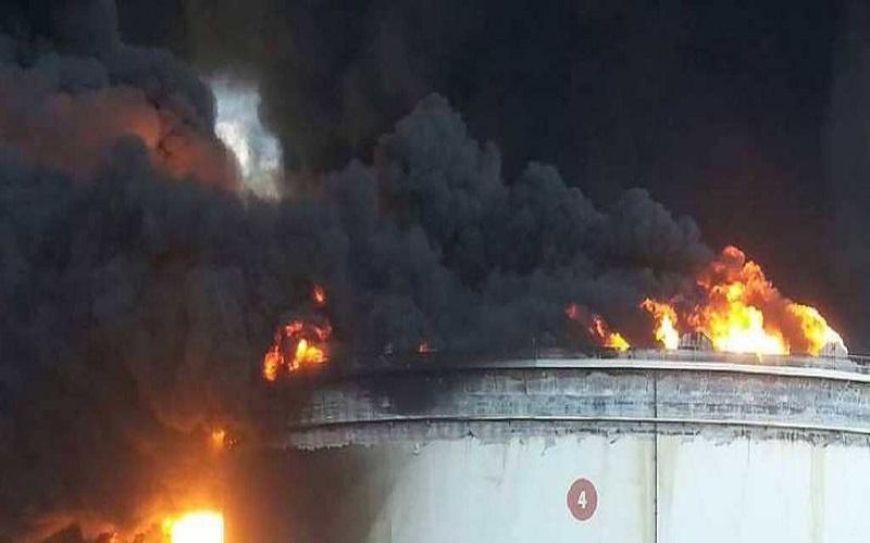 آتشسوزی، ذخیره نفت لیبی را کاهش داد