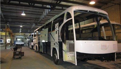 تولید اتوبوس در ۲ شرکت متوقف شد
