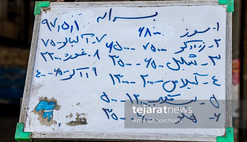برچسبهای قیمت در میدان مرکزی میوه و ترهبار تهران (گزارش تصویری)