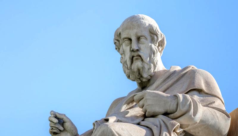 مجسمه افلاطون معنای زندگی چرایی زندگی