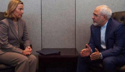 دیدار ظریف و موگرینی در مورد بهرهمندی اقتصادی مردم ایران از برجام
