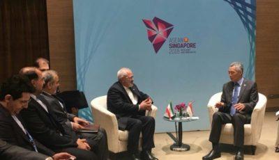 دیدار ظریف با نخستوزیر سنگاپور و وزرای خارجه ترکیه، ژاپن و فیلیپین