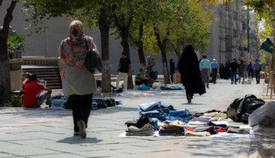 دستفروشان خیابان ولیعصر به روایت یک گزارش تصویری