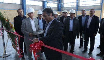 افتتاح خط تولید لولههای فولادی اسپیرال با حضور مدیران بانک ملی