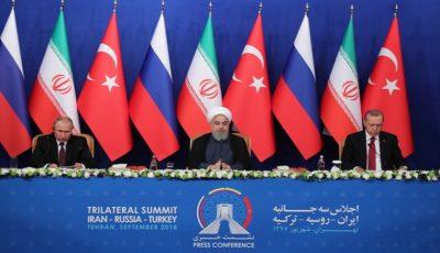 بیانیه مشترک روسای جمهور ایران، روسیه و ترکیه در نشست تهران