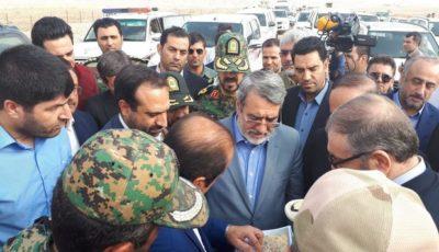 وزیر کشور از زیرساخت های مرز مهران بازدید کرد