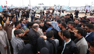 بازدید رئیس دفتر رئیسجمهور از موکب پگاه در شلمچه