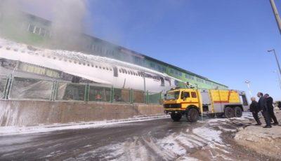 مهار آتش سوزی لاشه اسقاطی هواپیمای ماهان