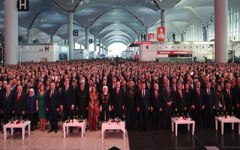 اردوغان فرودگاه جدید «استانبول» را افتتاح کرد