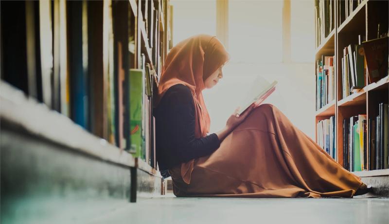 دختر کتاب کتابخوانی موفقیت کتابخانه