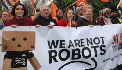 کارگران آمازون در اروپا راهپیمایی کردند
