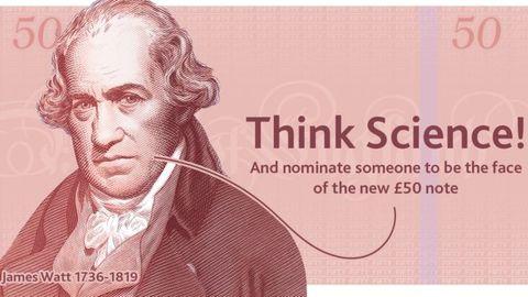 اسکناس جدید ۵۰ پوندی با تصویر دانشمند بریتانیایی