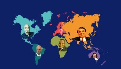 ثروتمندترین افراد هر قاره را بشناسید (موشنگرافیک)