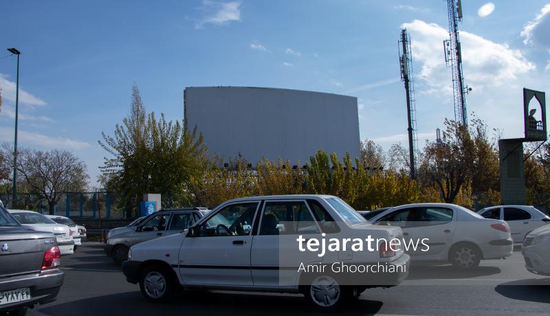 بیلبوردهای خالی شهر تهران