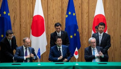 اروپا و ژاپن یک توافق گسترده تجارت آزاد امضا کردند