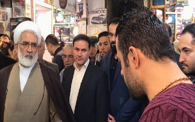حضور دادستان کل کشور در بازار تهران و دانشگاه علوم و تحقیقات