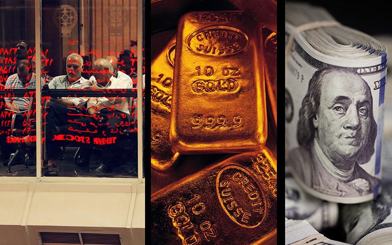 بورس افت کرد / دلار و طلا ارزان شد