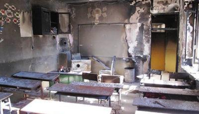 فوت ۲ دانشآموز در آتشسوزی مدرسه