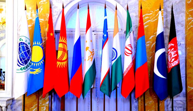 پرچم سازمان همکاری شانگهای اقتصاد هند