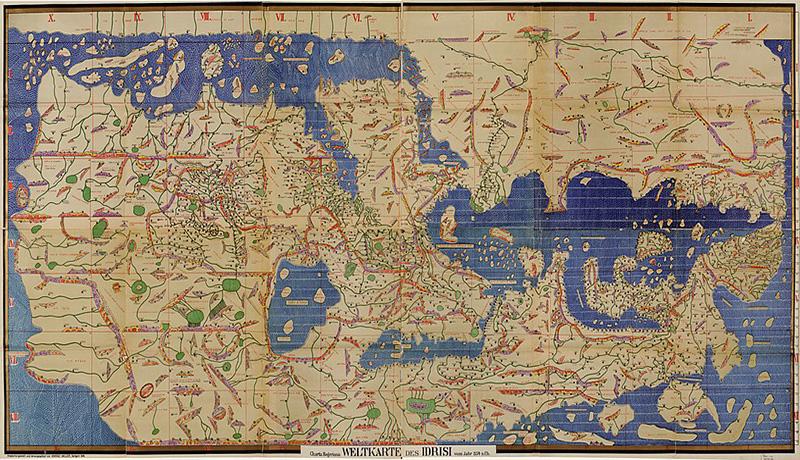 نقشه قدیمی محمد الادریسی ایران باستان
