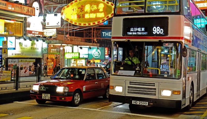 ترافیک شبانه هنگکنگ