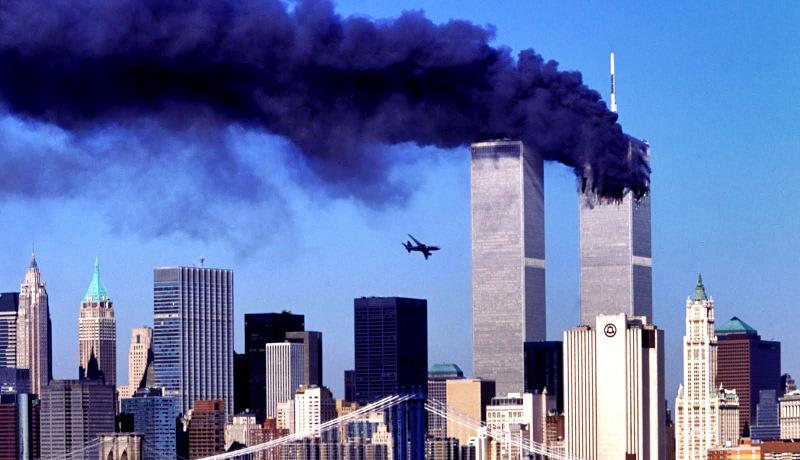 حادثه ۱۱ سپتامبر دومین هواپیما لحظه برخورد