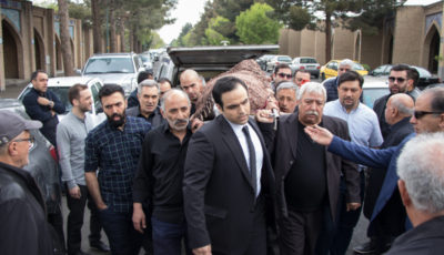 مراسم خاکسپاری زنده یاد شاهرخ ظهیری (گزارش تصویری)