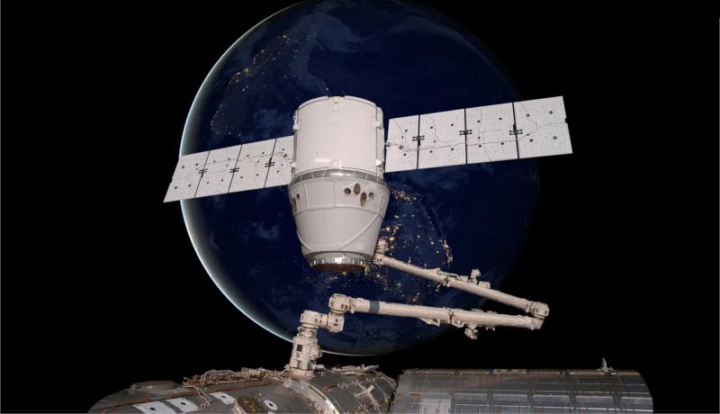 دراگون اسپیسایکس ایستگاه فضایی بینالمللی SpaceX Dragon ISS