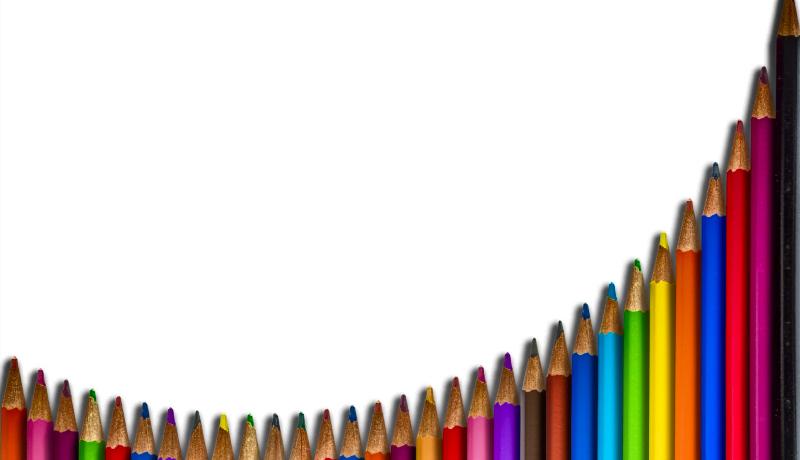منحنی یادگیری مدادرنگیها