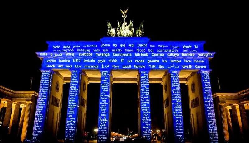 فستیوال نور دروازه برندنبرگ برلین آلمان