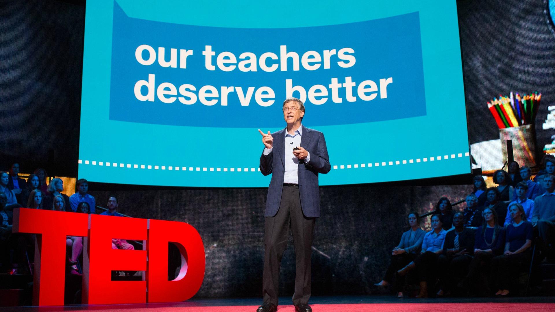 بیل گیتس در سخنرانیهای تد