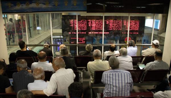 تالار معاملات بورس در لحظات سخنرانی رئیس جمهور (گزارش تصویری)