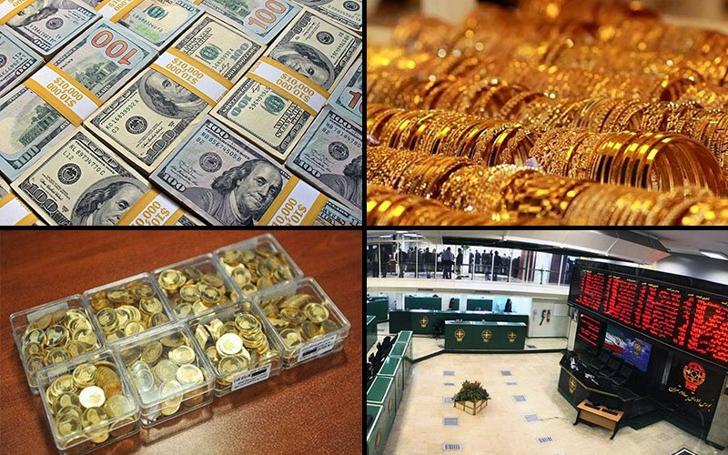 نوسان بازارها در دو هفته قطعی اینترنت / گرانی 8 درصدی دلار و طلا / بورس کمترین واکنش را نشان داد