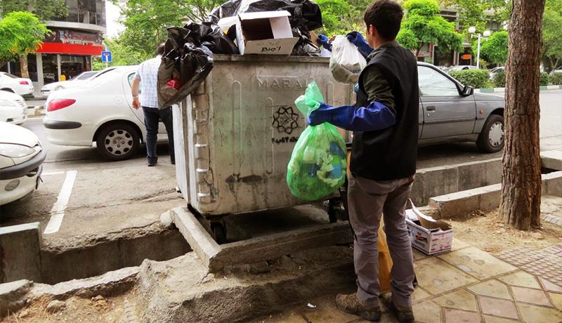 زباله آشغال سطل تفکیک