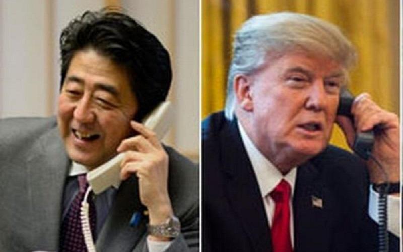 گفتگوی تلفنی نخستوزیر ژاپن با ترامپ قبل از سفر به تهران