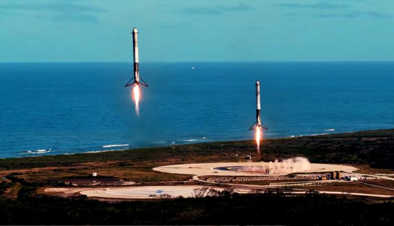 Falcon Heavy side rockets