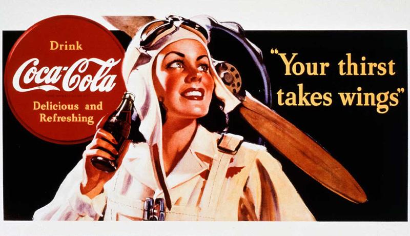 تبلیغ قدیمی کوکاکولا