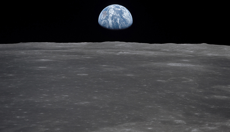 نمای کره زمین از ماه
